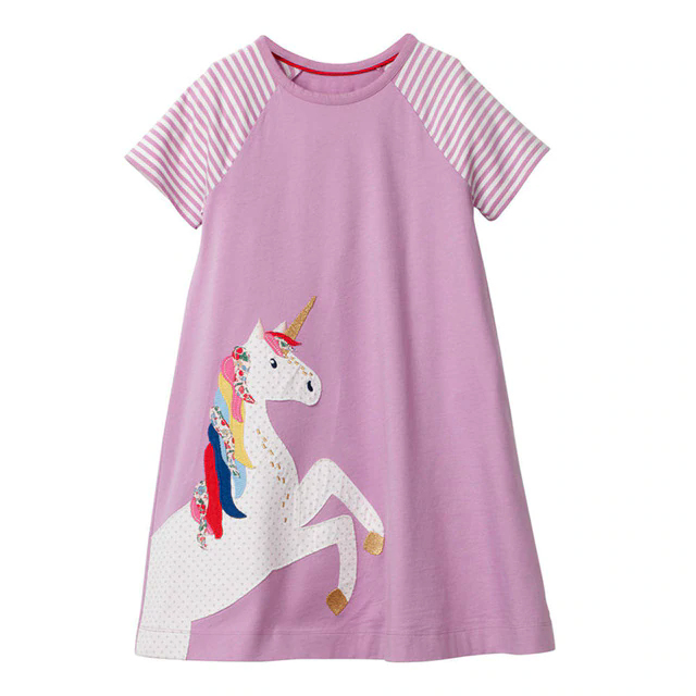 Robes dress Été fille femme girl women summer wear clothing animal animaux unicorn fille girl mignon cute Kawaii meilleur best site boutique shop 2019