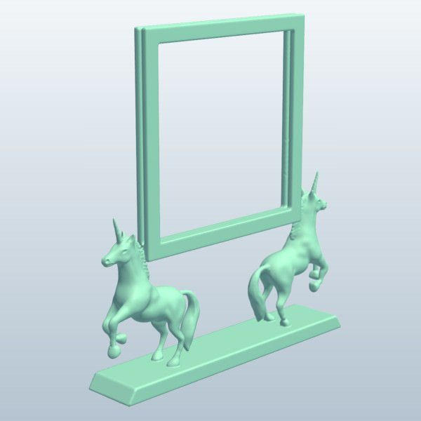Cadre Photo PhotoFrame RearedUnicorns impression 3d model service a la demande Horn of Unicorn printing 3d model service on demand fille girl mignon cute Kawaii meilleur best site boutique shop 2019