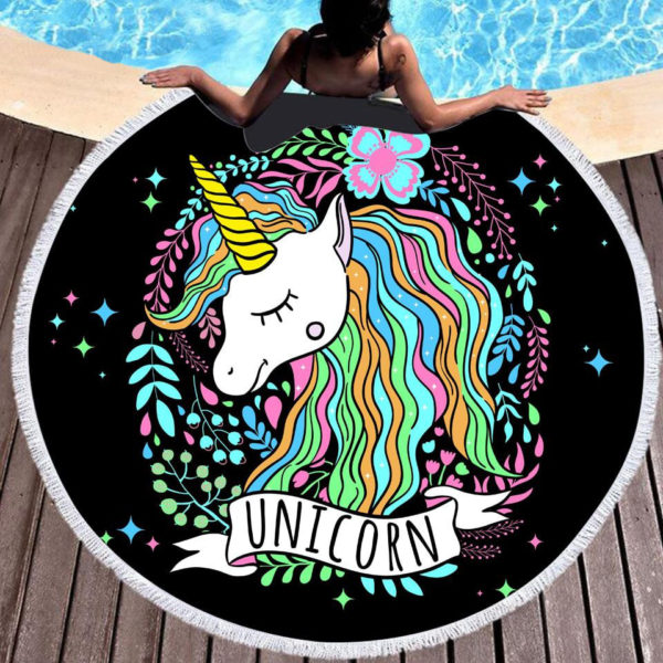 Grande Serviette Swim Big towel Licornes plage beach swimming pool fille femme girl women summer unicorn fille girl mignon cute Kawaii meilleur best site boutique shop 2019