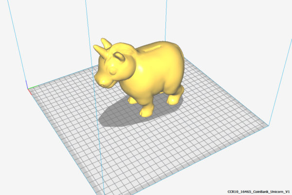 Tirelire Licorne Piggy bank impression 3d model service a la demande Horn of Unicorn printing 3d model service on demand fille girl mignon cute Kawaii meilleur best site boutique shop 2019