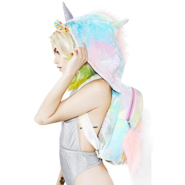 Sac et Capuche rainhood backpack arc-en-ciel rainbow licorne décoration fille femme girl women summer unicorn fille girl mignon cute Kawaii meilleur best site boutique shop 2020