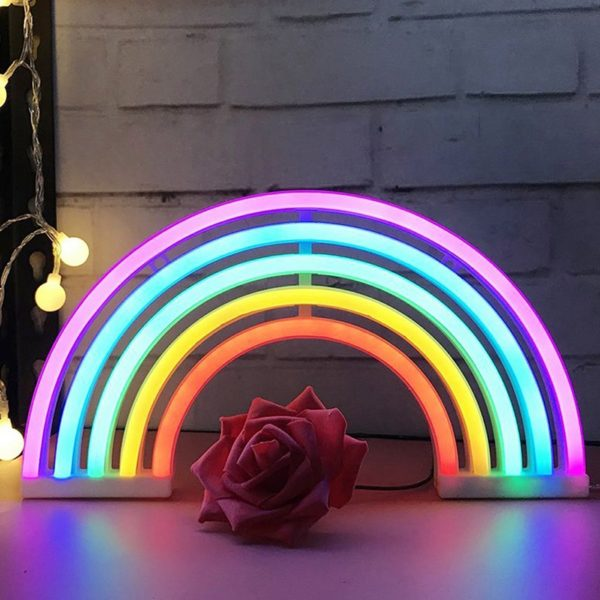 Néon Led lampe lamp bureau ArcenCiel rainbow décoration fille femme girl women summer unicorn fille girl mignon cute Kawaii meilleur best site boutique shop 2020