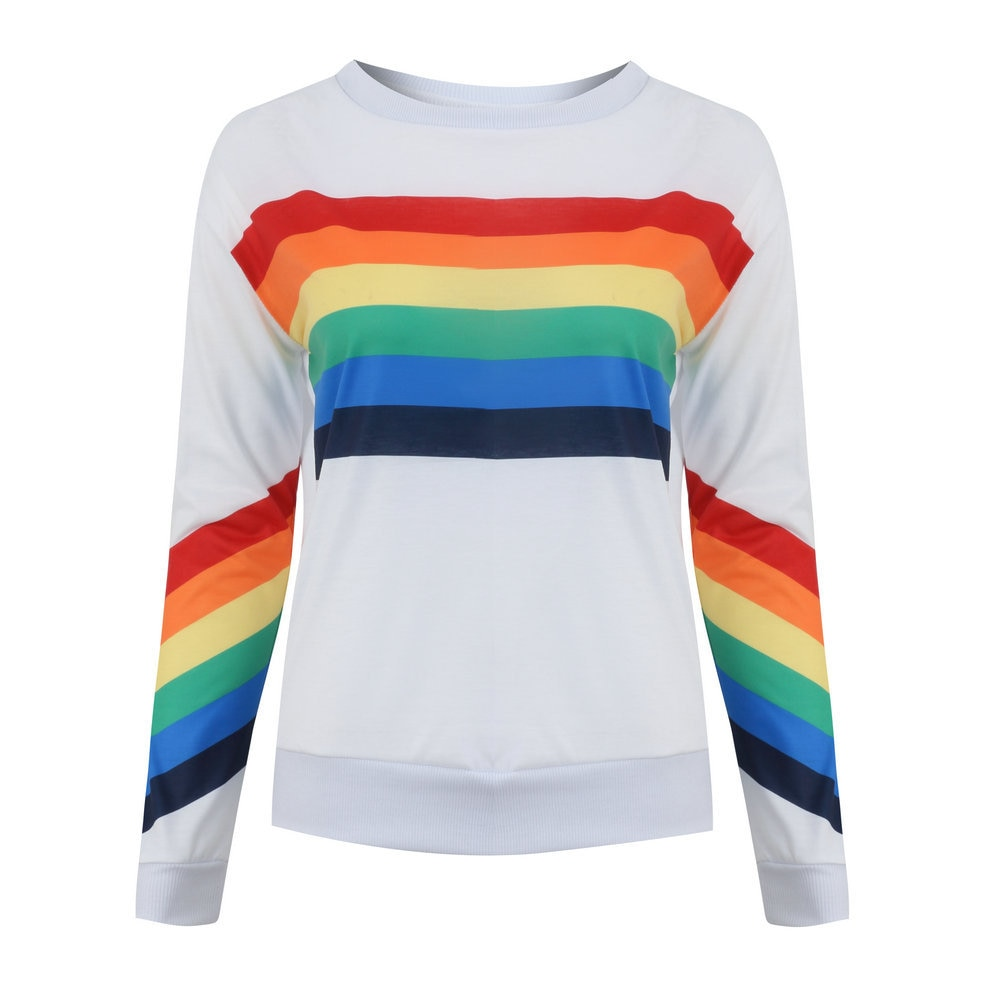 Pull ArcenCiel rainbow mode fashion clothing pullover fille femme girl women summer unicorn fille girl mignon cute Kawaii meilleur best site boutique shop 2019