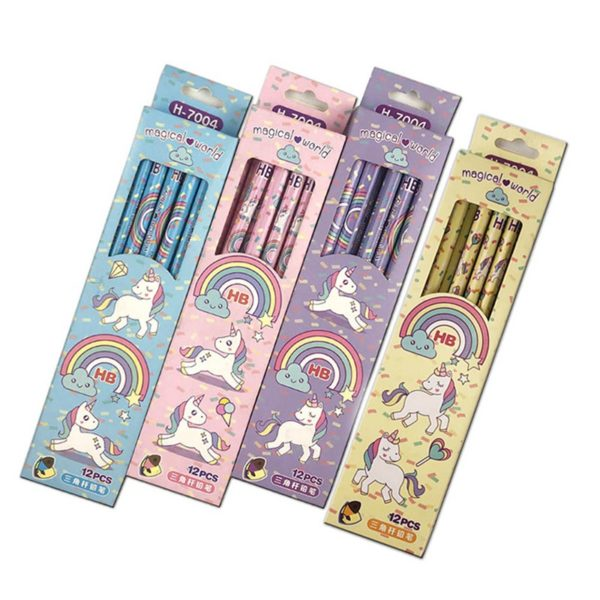 Crayon de bois pencil arc-en-ciel rainbow licorne décoration fille femme girl women summer unicorn fille girl mignon cute Kawaii meilleur best site boutique shop 2020