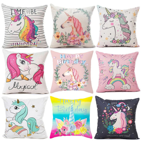 Oreiller Coussin Pillow Cushion arc-en-ciel rainbow licorne fille femme girl women summer unicorn fille girl mignon cute Kawaii meilleur best site boutique shop 2020