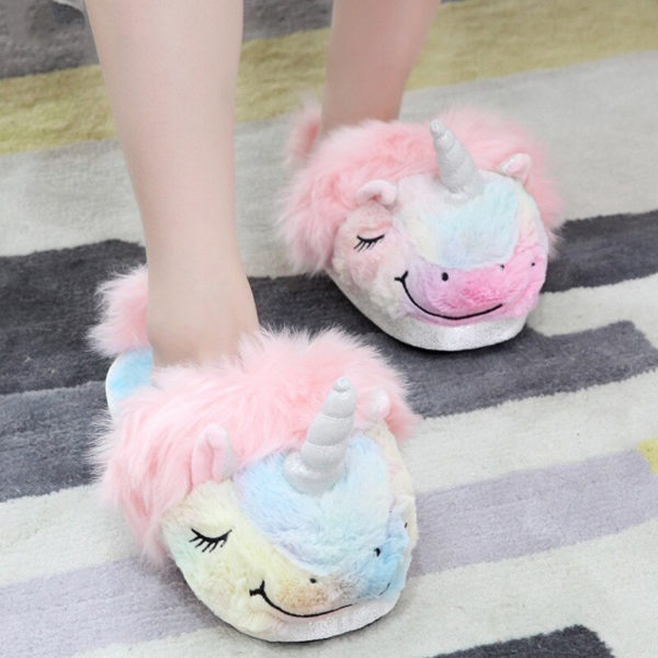 Pantoufle licorne slipper arc-en-ciel rainbow licorne fille femme girl women summer unicorn fille girl mignon cute Kawaii meilleur best site boutique shop 2020