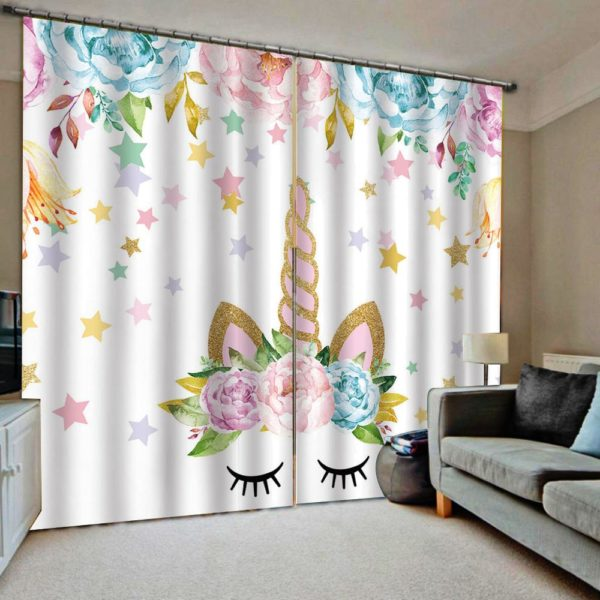 Rideau Licorne Curtain chambre bedroom arc-en-ciel rainbow fille femme girl women summer unicorn fille girl mignon cute Kawaii meilleur best site boutique shop 2020