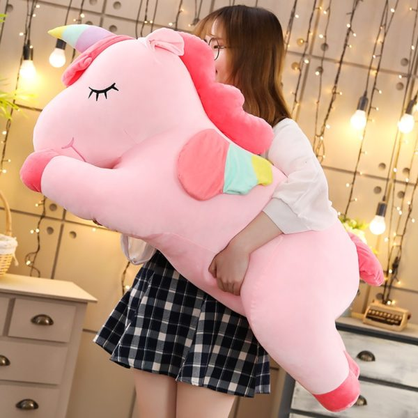 Peluches Licorne énorne hugh Unicorn plush chambre bedroom arc-en-ciel rainbow fille femme girl women summer unicorn fille girl mignon cute Kawaii meilleur best site boutique shop 2020