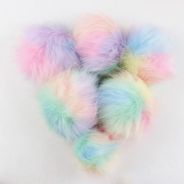 Pompon Licorne fausse fourrure pompony fake fur Licorne Unicorn arc-en-ciel rainbow fille femme girl women unicorn mignon cute Kawaii meilleur best site boutique shop 2020