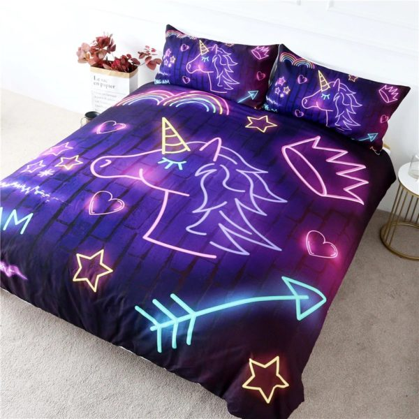 Parures Lit chambre couette bedroom badset chambre fille femme girl women summer unicorn fille girl mignon cute Kawaii meilleur best site boutique shop 2020