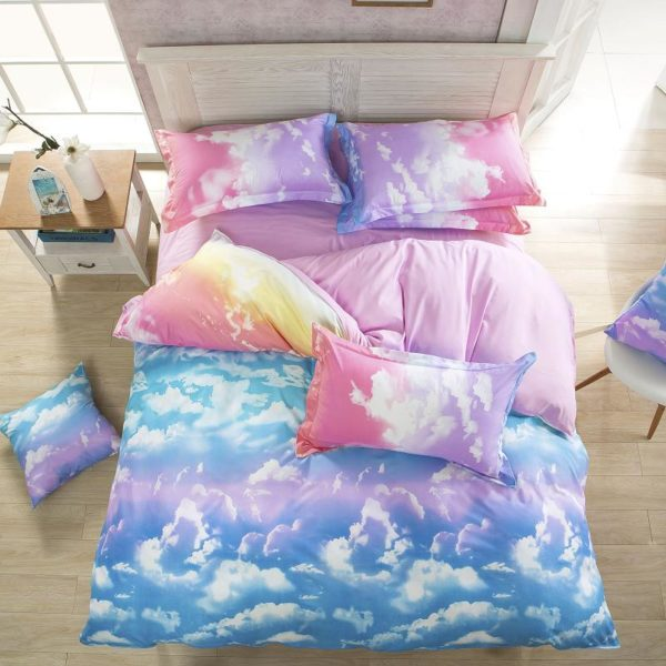 Parures de Lit nuage cloud couette bedroom badset chambre fille femme girl women summer unicorn fille girl mignon cute Kawaii meilleur best site boutique shop 2020