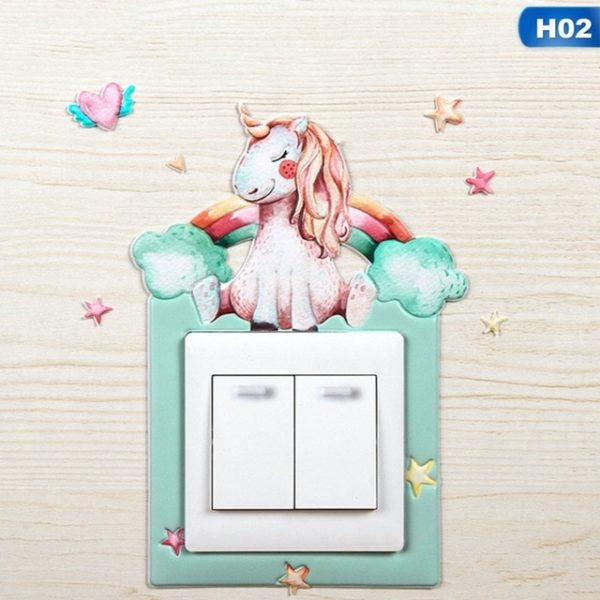 Déco Interrupteur Autocollants Mural wall sticker home deco maison chambre fille femme girl women summer unicorn fille girl mignon cute Kawaii meilleur best site boutique shop 2020