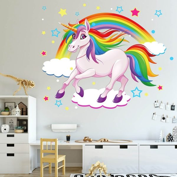 Autocollants Mural wall sticker home deco maison chambre fille femme girl women summer unicorn fille girl mignon cute Kawaii meilleur best site boutique shop 2020